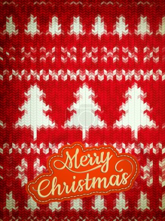 Knitted Christmas background. EPS 10