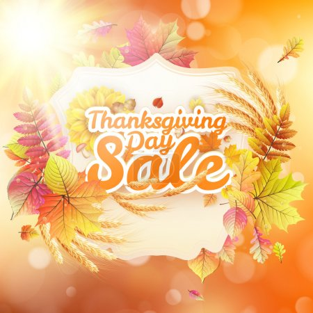 Thanksgiving Day sale. EPS 10