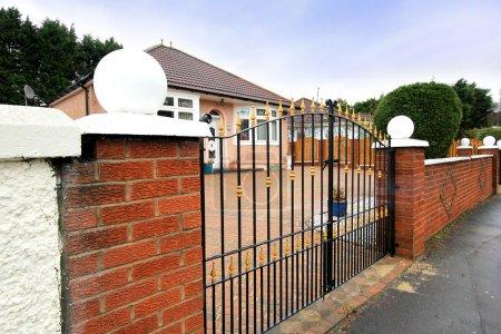Photo for Elegant fence outside British house - Royalty Free Image