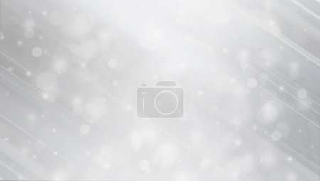 Abstact winter background with bokeh lights