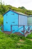 Krásné letní domy na skotské beach, Skotsko, Velká Británie