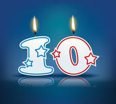 Birthday candle number 10