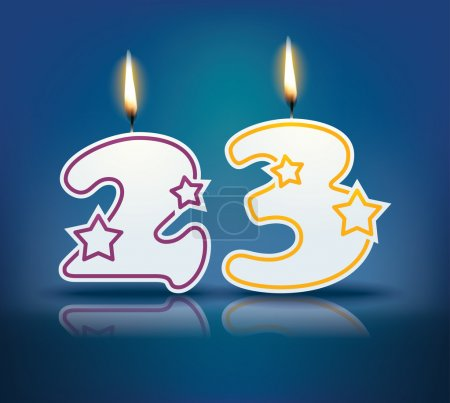 Birthday candle number 23