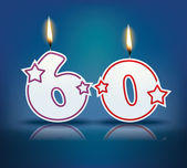 Birthday candle number 60