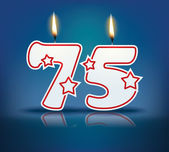Birthday candle number 75