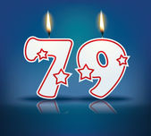 Birthday candle number 79