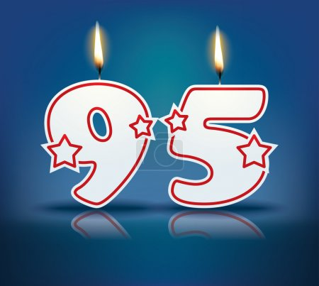 Birthday candle number 95