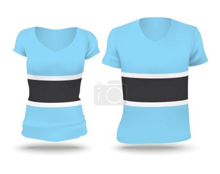 Flag shirt design of Botswana