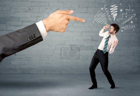 Unprofessional salesman being fired