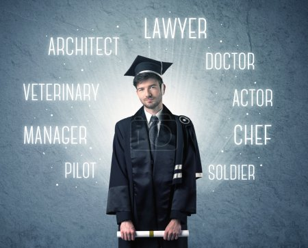 Graduete person looking for professions