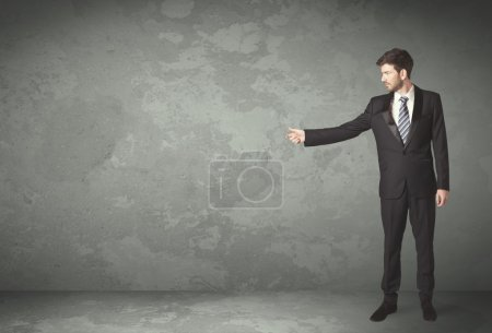 Photo for Business person throwing with empty copyspace in a room - Royalty Free Image