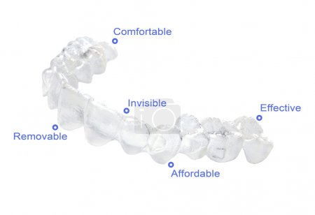 Photo for Advantages of invisible braces - Royalty Free Image