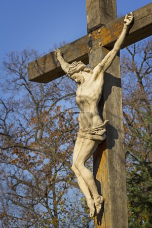 Photo for Statue of Jesus Christ on the cross - the crucifix - Royalty Free Image