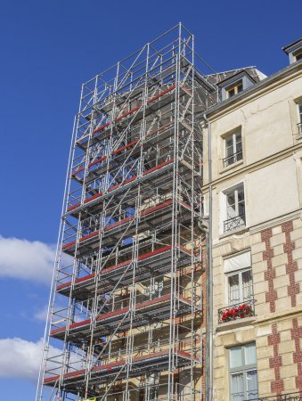 Restoration with scaffold