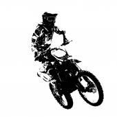 Rider participates motocross championship  Vector illustration