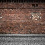 Industrial background, empty grunge urban street w...