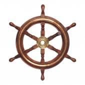 Old  wooden steering wheel