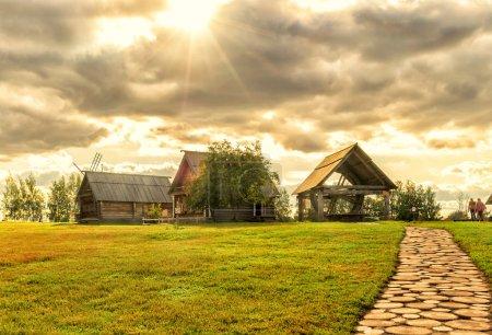das traditionelle russische Dorf in Susdal