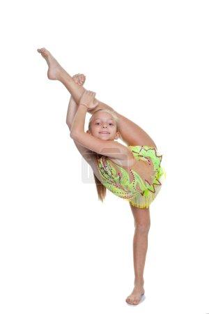 Girl dancer or gymnast pose