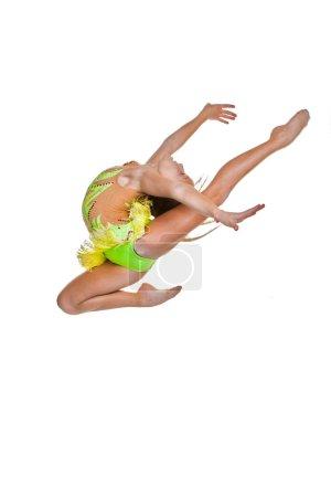 gymnast or ballet dancer leaping