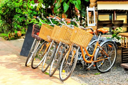 Bicycle for rent in town Luang prabang