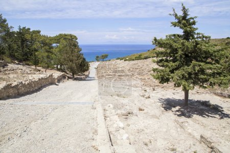 The site of the Acropolis of ancient Kamira. Rhodes.
