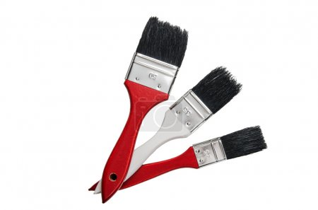 Painting brushes, isolated on a white