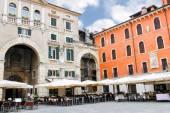 Tables outdoor restaurant on the Piazza della Signoria in Verona