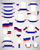 Russian flag decoration elements
