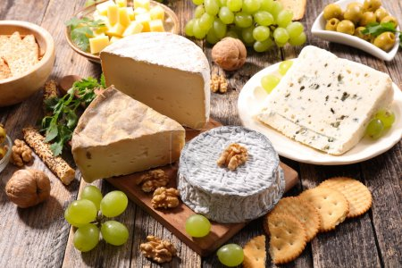 cheese, nuts and olives