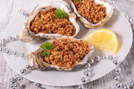 baked oysters with lemon