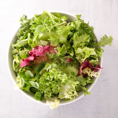 Photo for Healthy fresh vegetable salad in bowl - Royalty Free Image
