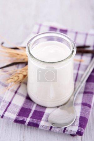Yogurt in bottle