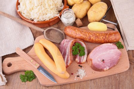 Choucroute with sausages