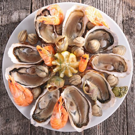 Photo for Close up of tasty seafood platter - Royalty Free Image