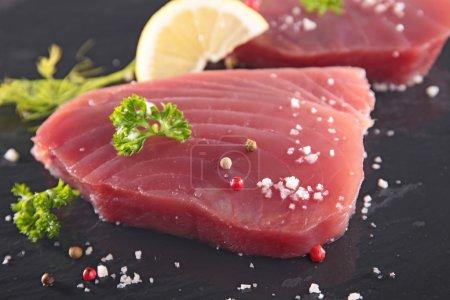 Two Raw tuna fish fillet