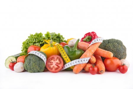 raw vegetables with meter