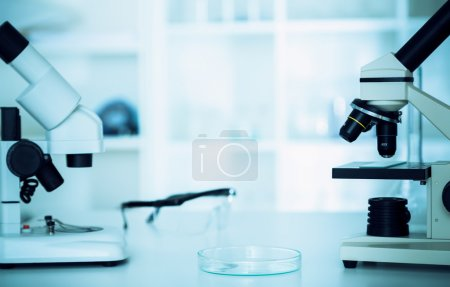Photo for Laboratory microscope lens. microscope lens. - Royalty Free Image