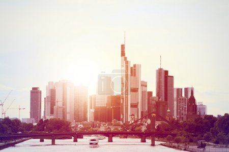 Skyline Frankfurt Evening sun