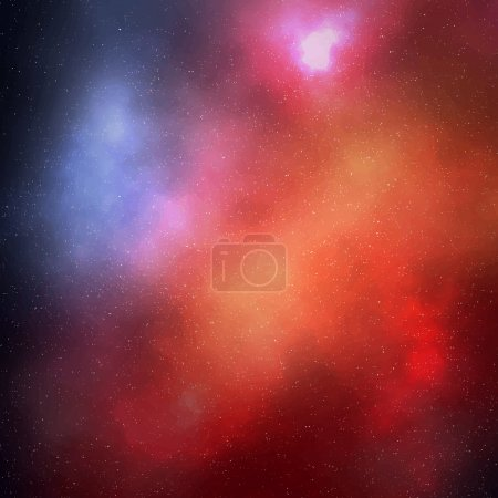 Illustration for Abstract colorful space background with stars. Vector illustration EPS10 - Royalty Free Image