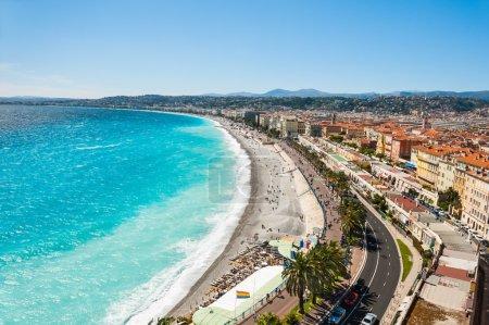 Photo pour Vue panoramique de Nice, France - image libre de droit
