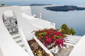 Bílé architektury na ostrově santorini, Řecko