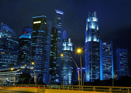 Photo for Singapore financial district at the night time - Royalty Free Image