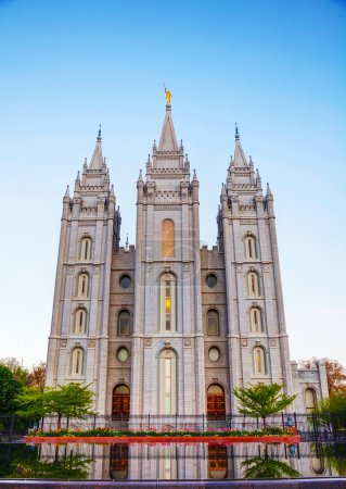 Mormons Temple  in the evening
