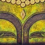 Buddha face,acrylic painting on canvas...