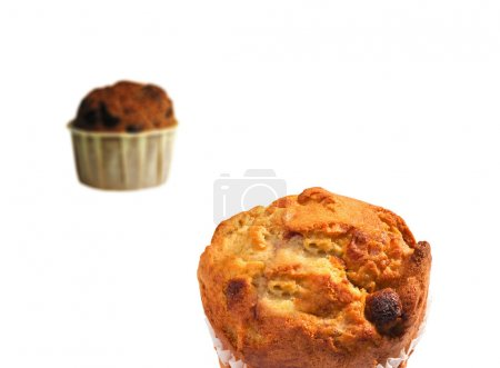 Blueberry Muffins isolated