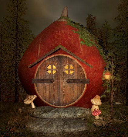 Photo for Little elf house by night - Royalty Free Image