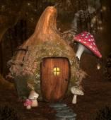 Enchanted pumpkin house