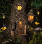 Summer elf tree house