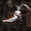 Beautiful demon with scythe...